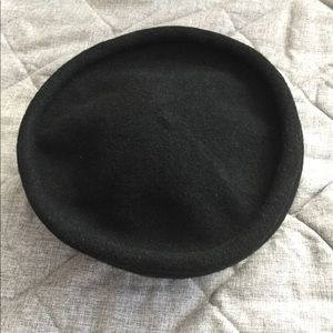 Black Wool Sailor Hat